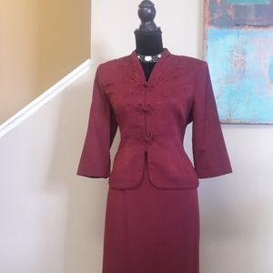 Koret Dress Petite/Purple/2Pc. Dress Suit
